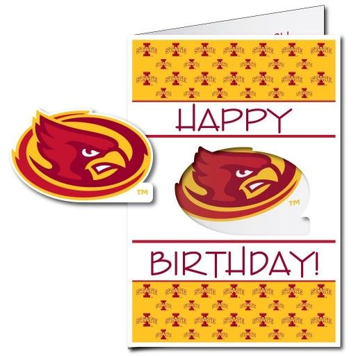 63 best giant birthday cards images on pinterest envelopes funny iowa state university 2x3 giant birthday greeting card plus yard sign m4hsunfo Gallery