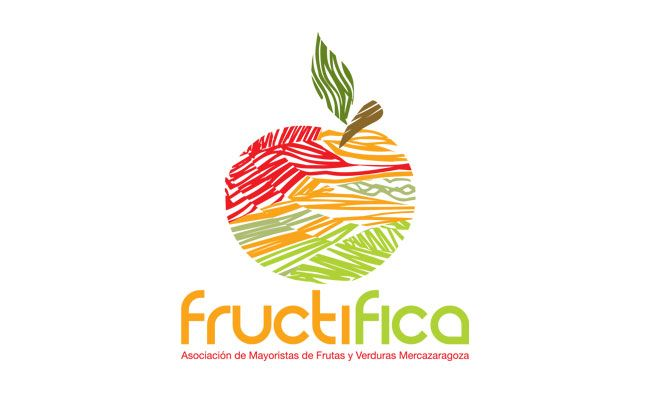 Logotipo de Fructifica, Asociación de Mayoristas de Frutas y Verduras de Mercazaragoza.