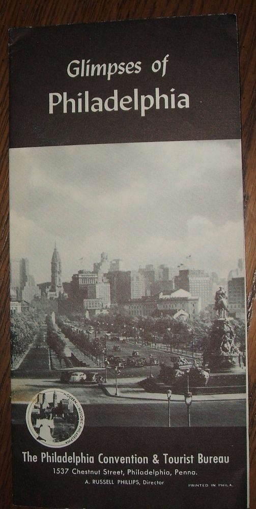 1945 Philadelphia Convention and Tourist Bureau Glimpses of Philadelphia Booklet