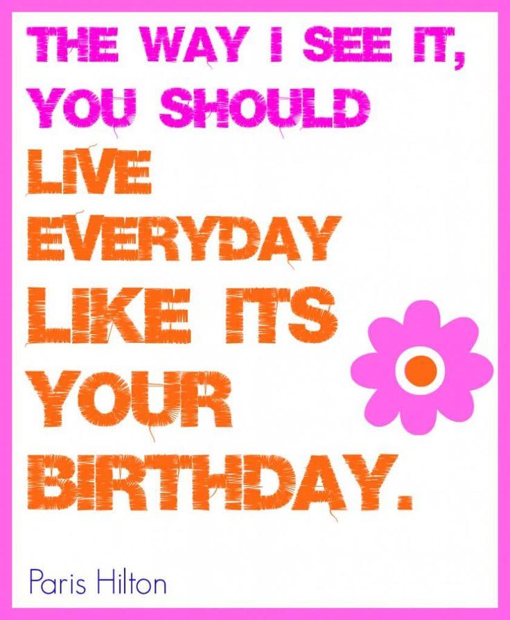 Birthday Paris hilton quote