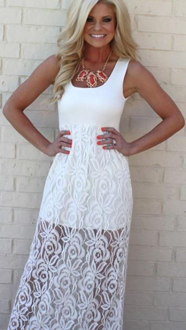 Www Poshponyboutique Posh Pony Boutique Dresses White Lace Maxi Dress