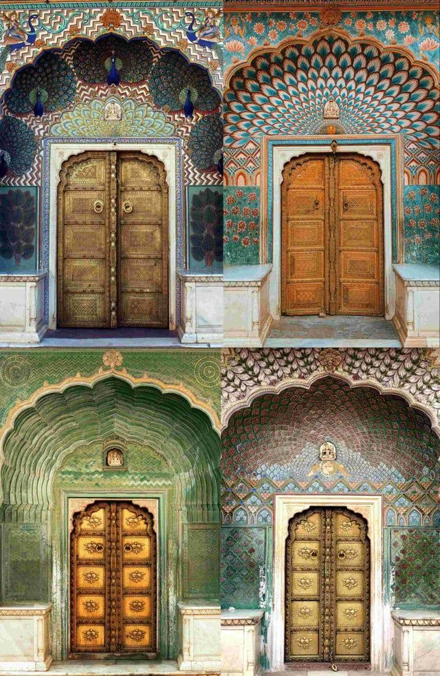 More Doors From The Jaipur City Palace Because They Are Beautiful And I Love The Color Palette In 2021 Beautiful Doors City Palace Jaipur Jaipur