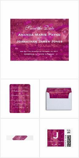 Pink Fuchsia Wedding Invitation Suite