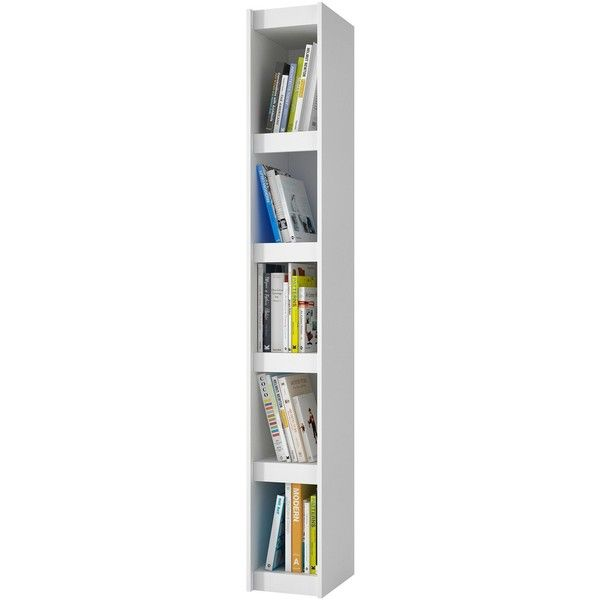 parana 5shelf white wood small bookcase 80 liked on polyvore featuring