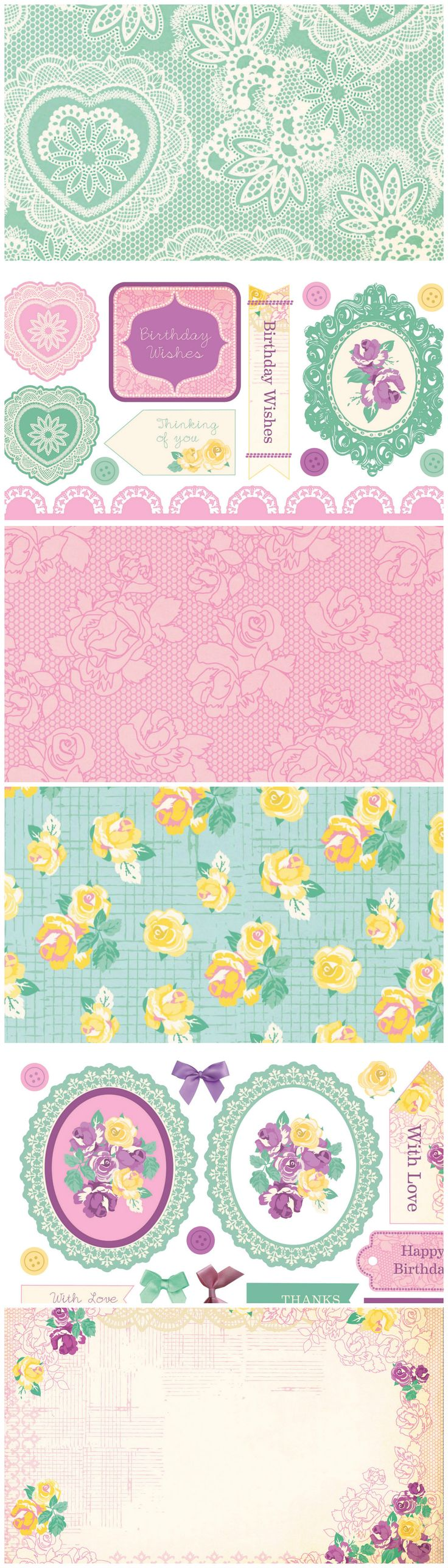 Scrapbook paper lace - Go For A Glorious Vintage Look With These Stunning Free Printable Papers From