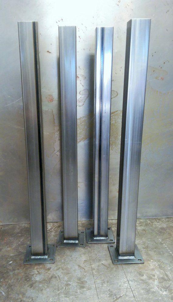 Metal Tube Table Legs Set Of 4 14 Ga Table Legs Steel Table Legs Steel Frame Construction