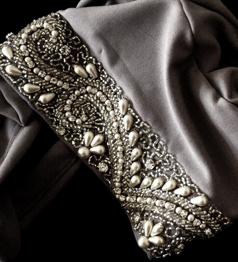 SILVER EMBROIDERED HIJAB CAP