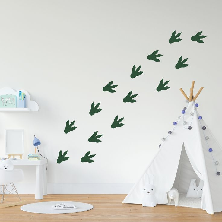 Dinosaur Footprint Decals Nursery Decal Vinyl Wall Decal Etsy In 2020 Boy Room Wall Decor Dinosaur Baby Room Dinosaur Kids Room