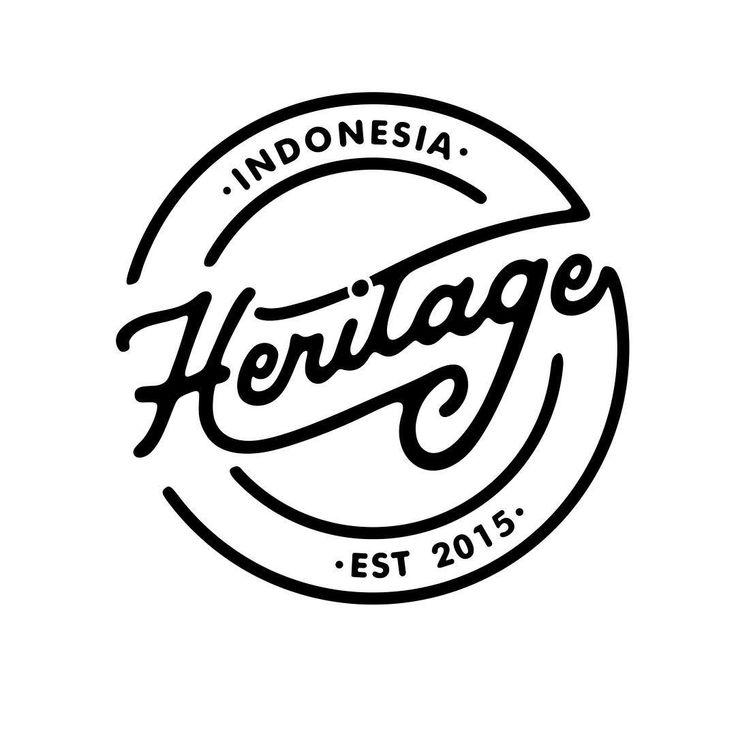 "557 Likes, 6 Comments - E D I S O N (@edisonsaputroo) on Instagram: ""Done ☺️ Logo for @_heritage"""