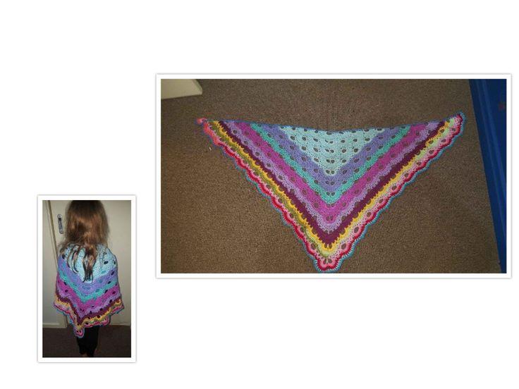 Virus Shawl to use up all my UK 100% Acrylic yarn. Practice run using size 4mm Hook.
