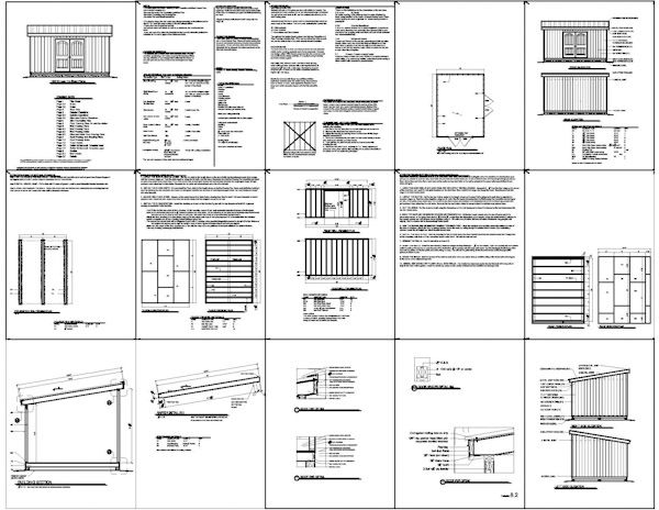 Garden Sheds Blueprints lean to garden shed plans