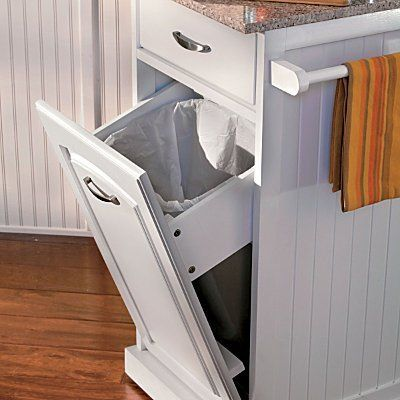 Kitchen Work Cart - Improvements by Improvements. $169.95. Space-efficient Kitchen Work Cart can be rolled to where you need it. Prepare your food on the kitchen utility cart's granite surface, then tilt out the trash can (not included) and scrape the peelings and scraps right into it. The Kitchen Work Cart can also be used as a serving station. Space-efficient Kitchen Work Cart can be rolled to where you need it. Prepare your food on the kitchen utility cart's granite s...
