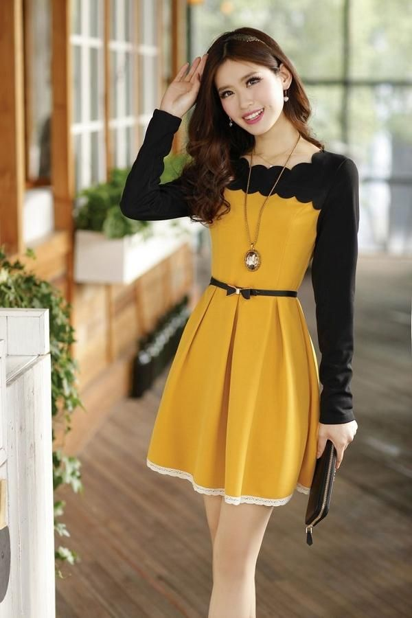 32 best themed yesstyle dresses images on pinterest color blocking asian fashion and block dress Yes style japanese fashion