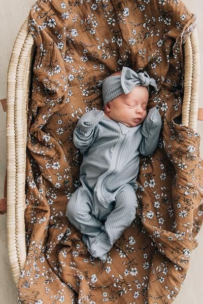 Grey Ribbed Head Wrap in 2021 Baby girl outfits newborn
