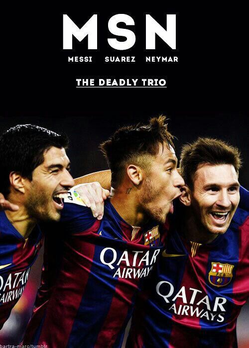 Suarez, Neymar and Messi