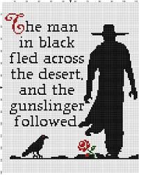 The Man in Black and the Gunslinger - Stephen King the Dark Tower Cross Stitch Pattern - Instant Download by SnarkyArtCompany on Etsy