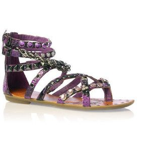 Carvela Koko Purple Sandals Flats-shoe