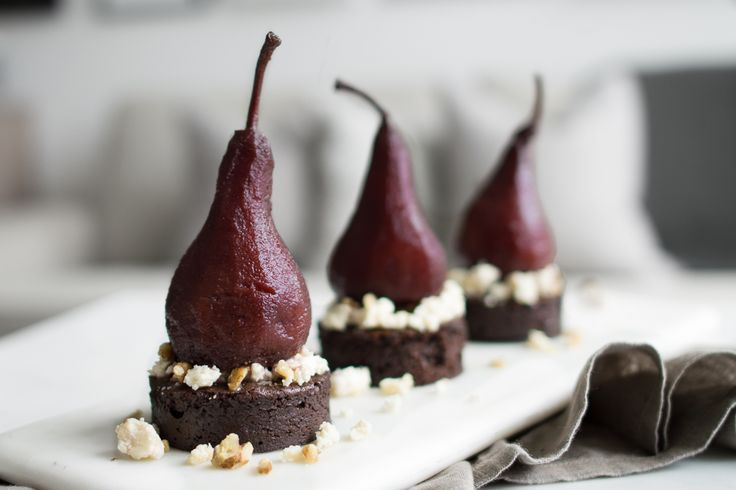 Port Poached Pear Chocolate Cake is a balanced harmony dessert that will impress any guest, or simply finish off a meal with elegance.