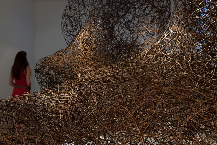 A massive, immersive installation in willow specially devised for Ruthin Craft Centre