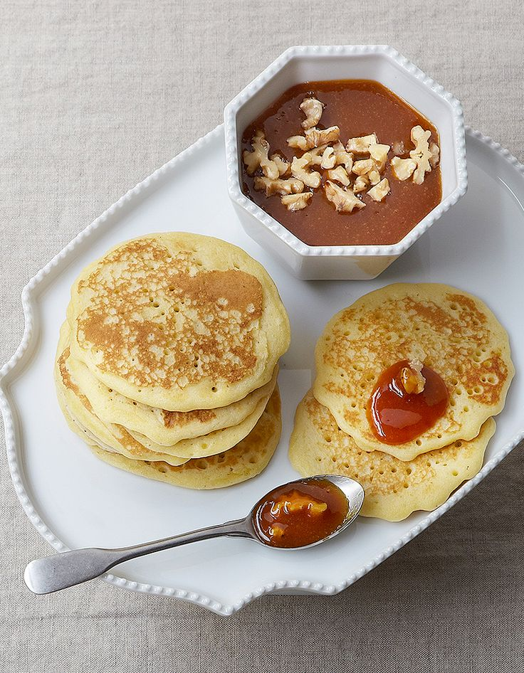 Pancakes, caramel aux fruits pour 4 personnes - Recettes Elle à Table