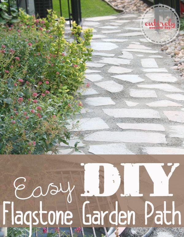 54 best images about flagstone ideas on pinterest for Easy garden path ideas