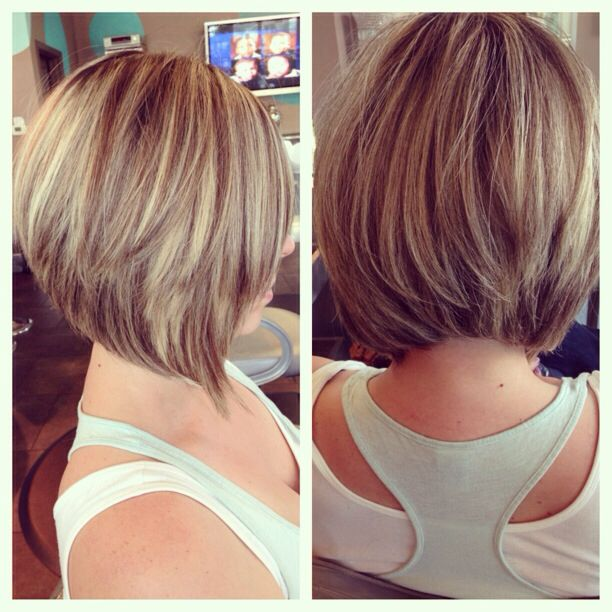 graduated bob with layers hairs