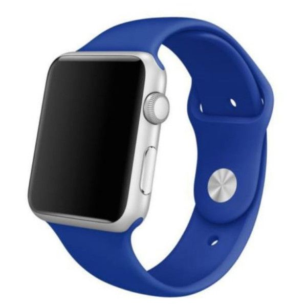 Replacement Silicone Band for Apple Watch ($8.99) ❤ liked on Polyvore featuring jewelry, watches, jewelry & watches, royal blue, silicone wrist watch, unisex jewelry, apple watches, silicon watches and apple wrist watch