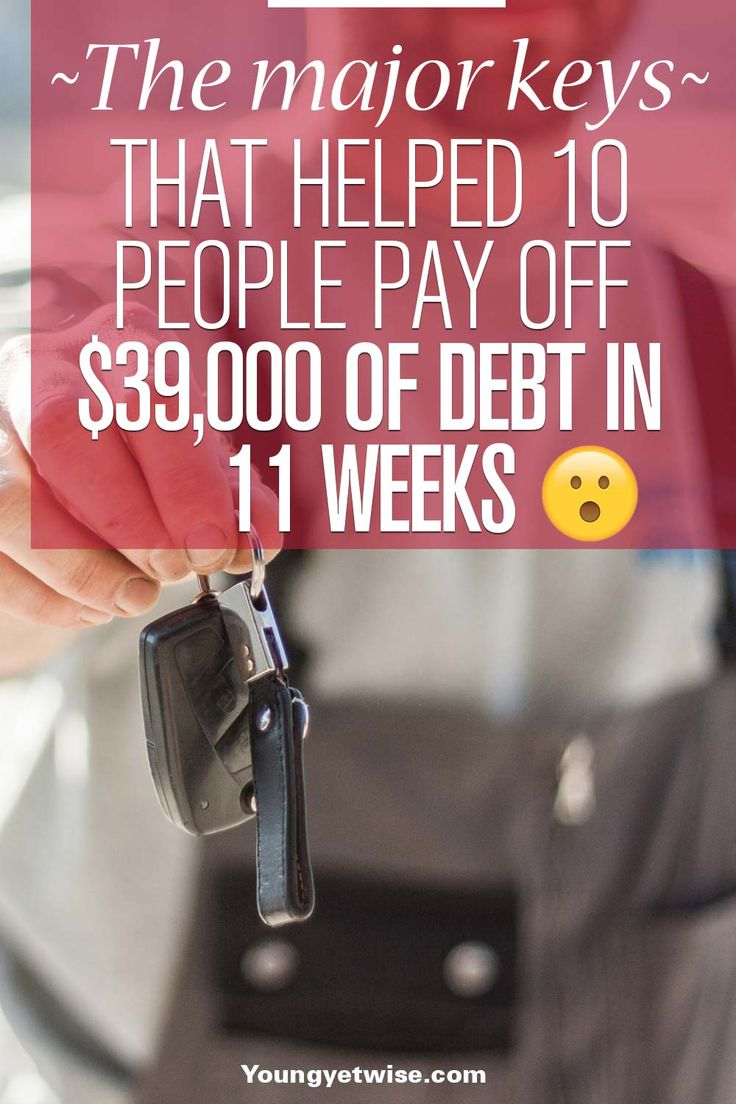 The major keys that helped 10 people pay off $39,000 of debt in 11 weeks. This is a super creative and fun way to pay off debt, maybe you should use this idea with your friends check it out!! http://youngyetwise.com/how-a-debt-challenge-helped-10-people-pay-off-over-30000-of-debt/