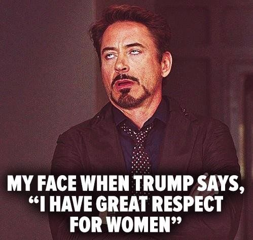 Any woman even contemplating voting for Trump must have no sense of self worth!