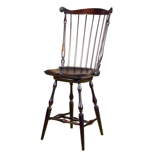 Windsor Bar Stools 18th Century Antique Reproduction