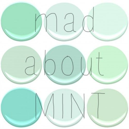 BENJAMIN MOORE : MINT GREEN, SPRING MINT, FRESH MINT, LEISURE GREEN, COPPER PATINA, LIGHT PISTACHIO, SHORE HOUSE GREEN, SOFT MINT, MANTIS GR...