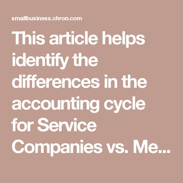 Jacob HIndman: This article helps identify the differences in the accounting cycle for Service Companies vs. Merchandising Companies. I think it is important to know the differences between the two, so that you can remember the differences between the income statements, COGS, etc, and you can be sure to use the right equations and order the statements properly.