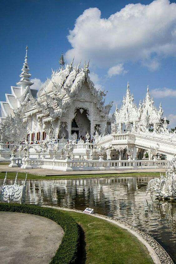 Wat Rong Khun, conocido como el Templo Blanco, TAILANDIA