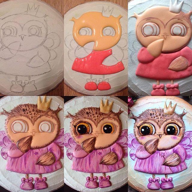 Совушки картинки для торта