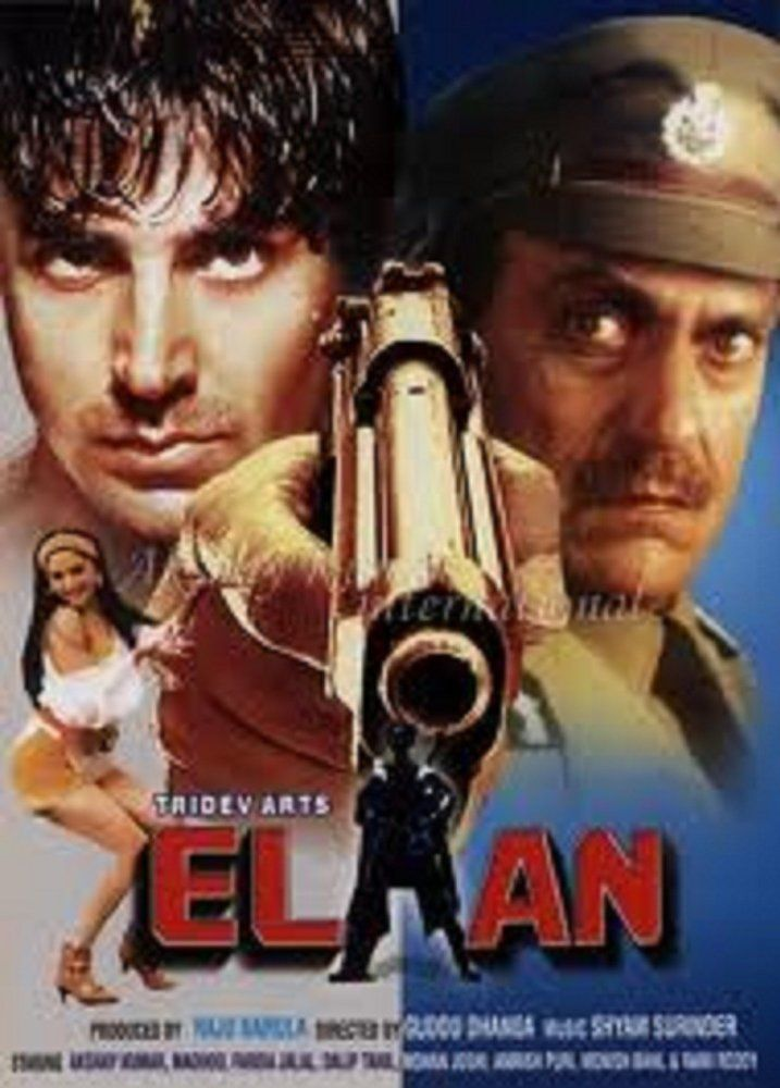 Elaan Hindi Movie Online - Akshay Kumar, Madhoo, Amrish Puri, Farida Jalal and Dalip Tahil. Directed by Guddu Dhanoa. Music by Shyam-Surender. 1994 [A]
