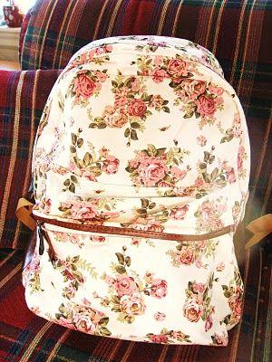Floral backpack :)