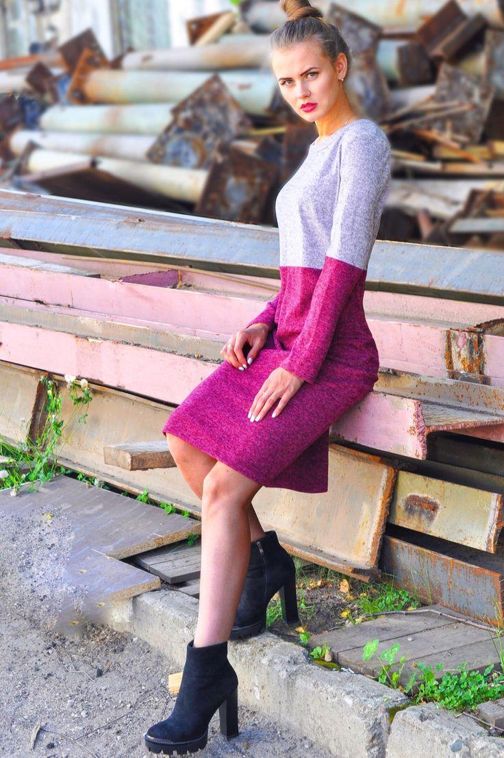 Платье из шерсти/ Стильное теплое платье/ Теплое платье #dress #rise #riseshop #shop #internetshop #fashion #clothes #womanclothes #girl #model #beauty