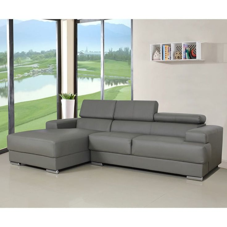 US Pride Furniture Gabriel Leather Contemporary Sectional Sofa Set (White Facing-Left Chaise Sectional set) (Bonded Leather)