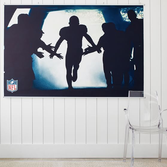 Found it! Love this! Picture from a previously pinned, football themed room for teen boys. Football bedroom ideas, Football bedroom ideas for boys, Teenager room ideas for boys, Boys room, Teenager room ideas, NFL, Football decor, Teen boys decor. Wall art, Wall decor, Gift for him, Mens wall art. #boysroom #teenager #ad #football