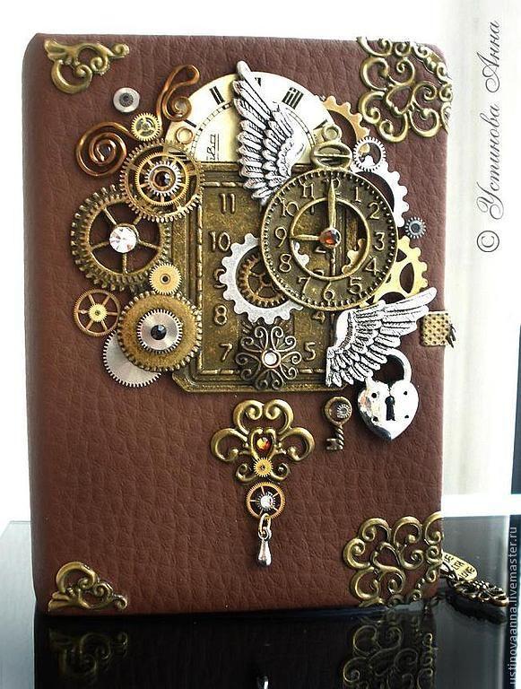 Купить Стимпанк Блокнот, книжка, открытка, Блокнот в стиле Стимпанк/Steampunk - стимпанк, steampunk, стимпанк блокнот