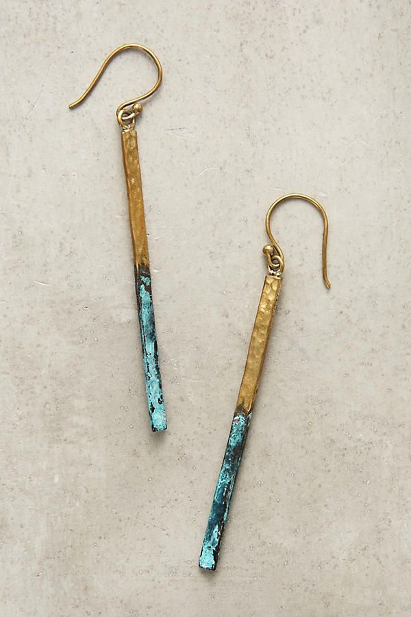 Slide View: 1: Linear Drop Earrings – * wenn * I…