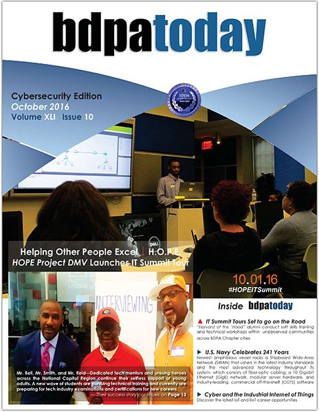 October 2016 Edition:  Cybersecurity Awareness Month and HOPE Project DMV's inaugural IT Summit