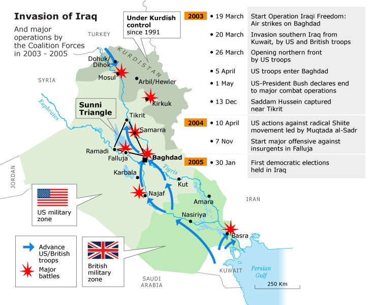 the american invasion of iraq The legacy of the us invasion in 2003 should never be far away from washington's conversation on iraq here's why  as reminders of the limits of american power and washington's ability to.