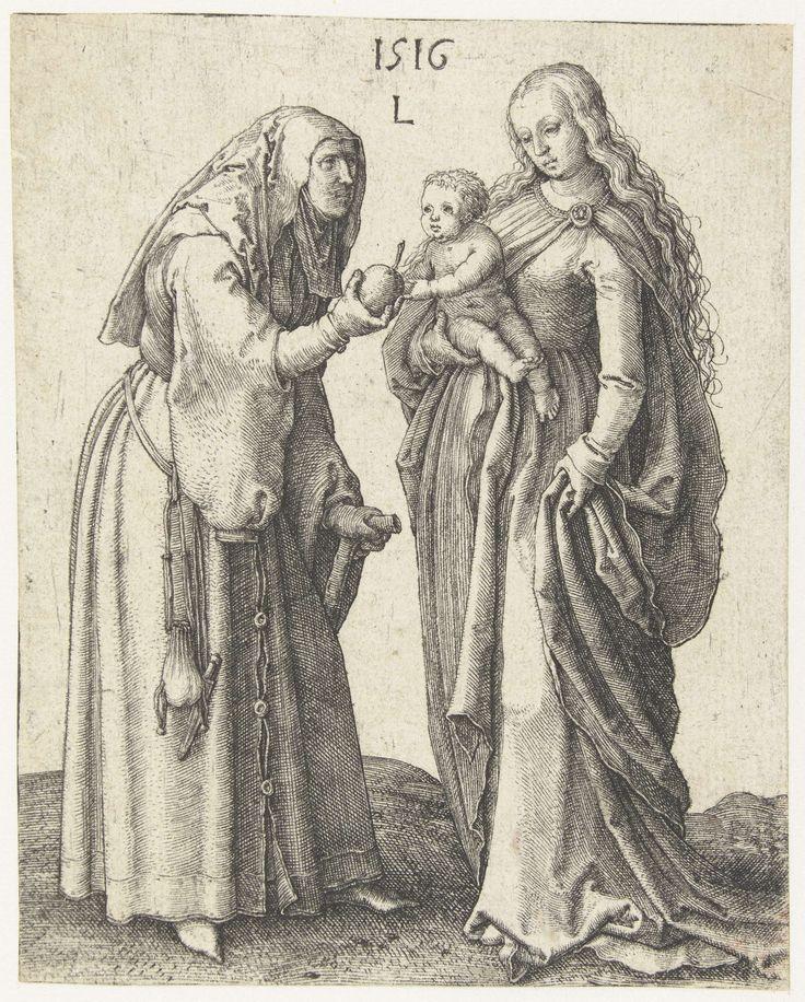 Maria met kind en de heilige Anna, Lucas van Leyden, 1516