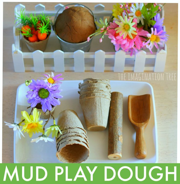 Make a gorgeous invitation to play with this mud play dough recipe, pretend flowers, mini pots and gardening tools! Perfect for a Spring play and learning activity or a garden themed sensory play idea for home and school. How to make mud play dough: To make this fun mud play dough recipe simply use my...Read More »