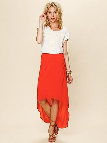 lovers+friends Pretty Heart Skirt in Orange at Pesca Trend