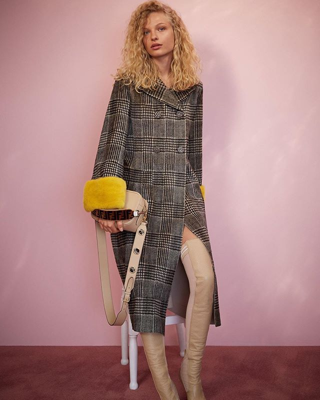 Fendi's Cruise 2018 collection is a sublime sweet extension of its Fall 2017 offerings - Prince of Wales checks fur-trimmed sleeves and satin tunics are aplenty. . . . #fendi #silviaventurinifendi #karllagerfeld #cruise2018 #fashion #womenswear #clothing #dress #satin #pink #yellow #readytowear #runway #collection  via L'OFFICIEL SINGAPORE MAGAZINE INSTAGRAM - Fashion Campaigns  Haute Couture  Advertising  Editorial Photography  Magazine Cover Designs  Supermodels  Runway Models