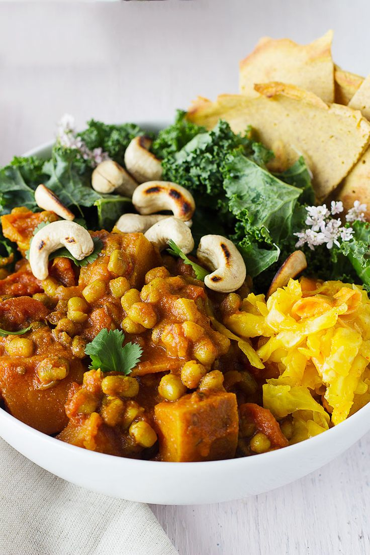 A delicious and wholesome vegan curry bowl to keep you warm and nourished!
