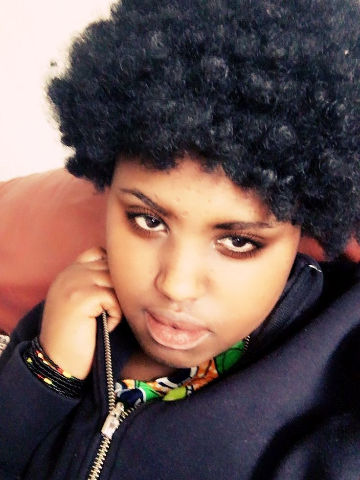 African afro hairstyle