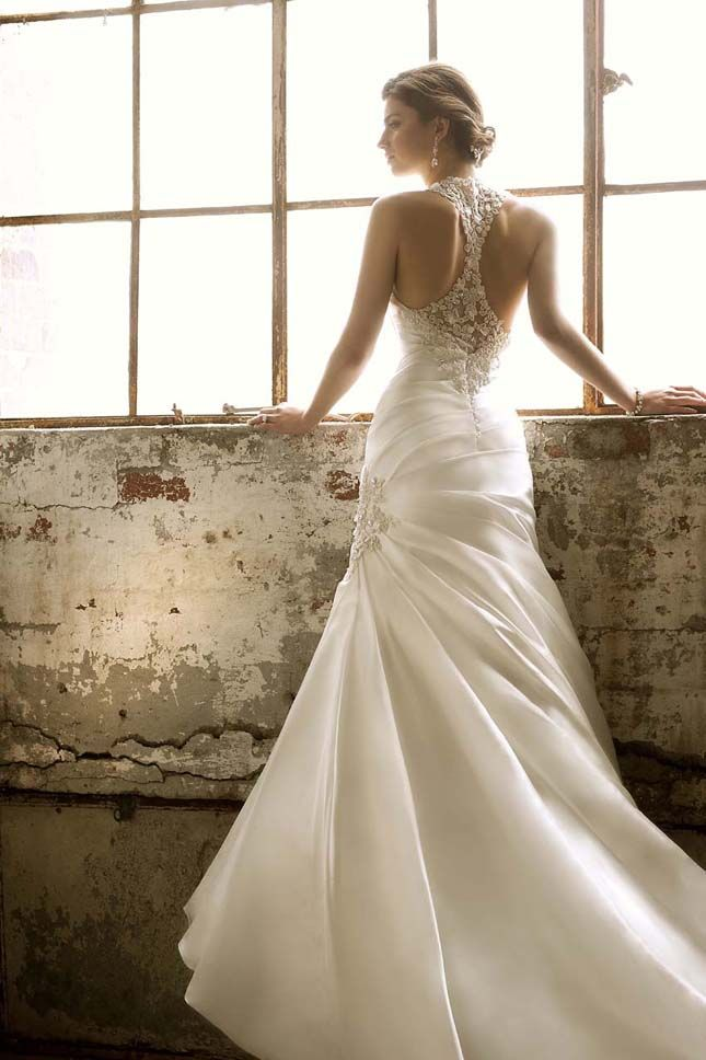 wedding gown with back detail